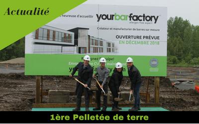 1ère pelletée de terre nouvelle usine